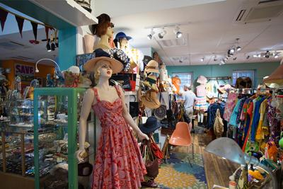 Mannequins and clothing in a Downtown Providence store