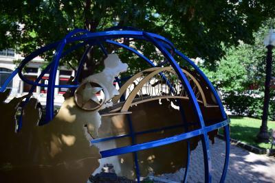 Globe in Tricentennial Park