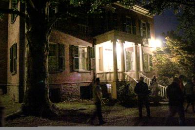 Ten Broeck Mansion at night