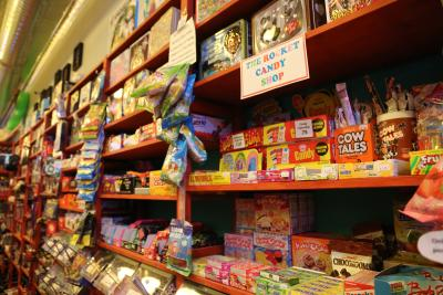 Colorful candy is displayed at The Rocket shop in Ypsilanti