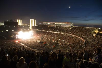 Crowd in Ohio Stadium during Buckeye Country Superfest
