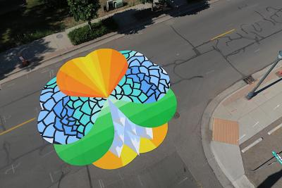 Street Art: Psychedelic Mural in Westminster, Colorado