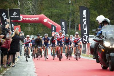 Gran Fondo Race Finish