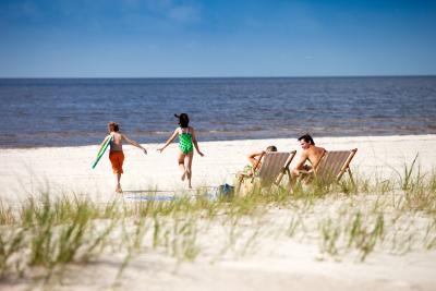 Coastal Mississippi white sand beach
