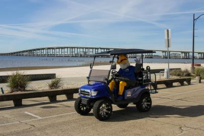 Biloxi Shuckers Schooner Ocean Springs Downtown Cart Rentals