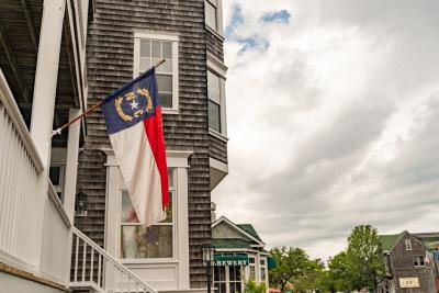 downtown manteo - nc flag