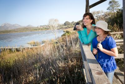 Mother and daughter bird watching in Los Osos, SLO CAL