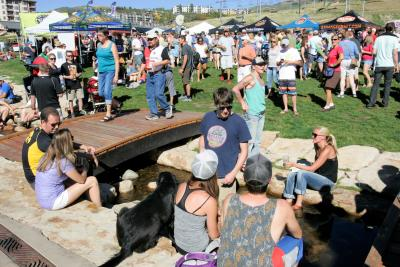 Crowds enjoy brews at the OktoberWest Beer Festival in Steamboat Springs