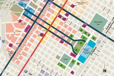 Downtown Houston Streetmap