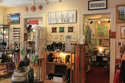 Inside of Artizanns products sit for sale along the walls