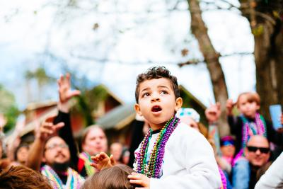 Little Boy Watching Parade