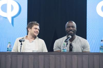 Defenders Panel - Finn Jones and Mike Colter - Photo by Joshua Lavador