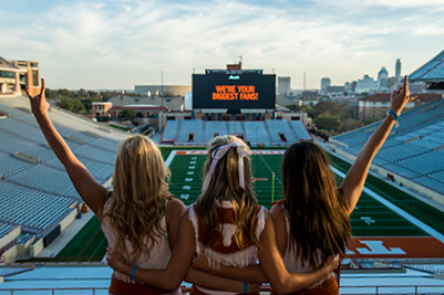 University of Texas Cheerleaders at DKR Texas Memorial Stadium