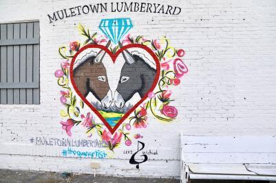 Muletown Lumberyard Mural