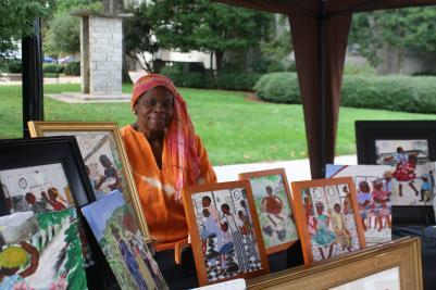 folk art festival display