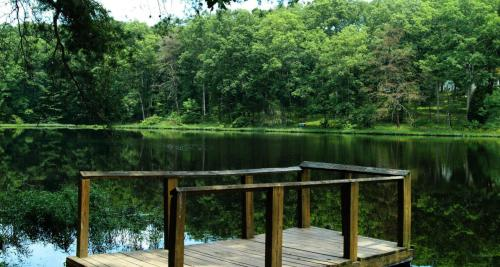 Fishing dock along the water at Clark State Forest