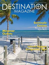"Cover of ""Destination Magazine"" - for example purposes only- picture of beach with boardwalk"