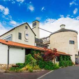 The historic Gardner Flour Mill at Gardner Village