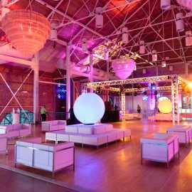 Corporate event lounge