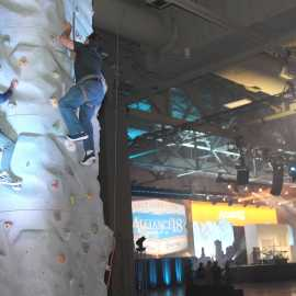 Higher Education User Group 2018 - Closing Reception Climbing Wall