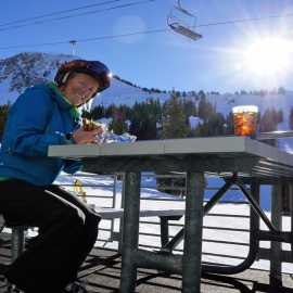Skiing works up an appetite. Make sure to check out Alta's on mountain eateries.