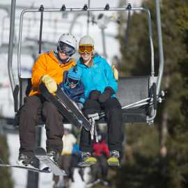 Families love skiing at Alta