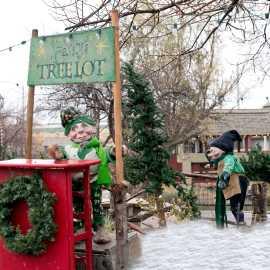 Christmas elf displays at Gardner Village