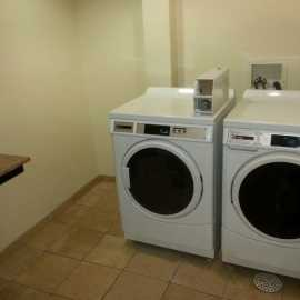 Guest coin operated laundry room
