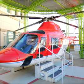 Real Intermountain Life Flight helicopter at Discovery Gateway Children's Museum