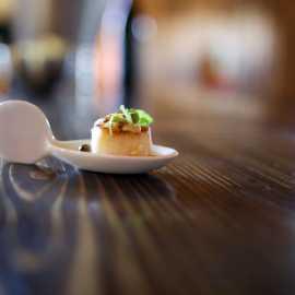 Sea scallop in almond butter