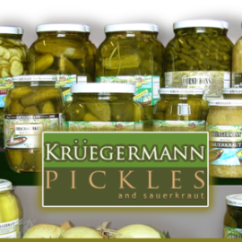 We carry a large variety of Kruegermann pickles, sauerkraut and more