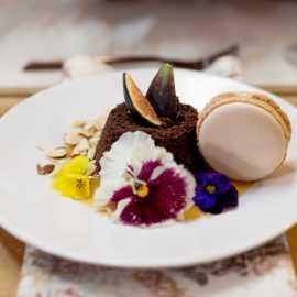 Corporate plated dessert