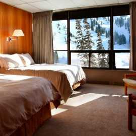 Slope facing standard room at Alta Lodge.