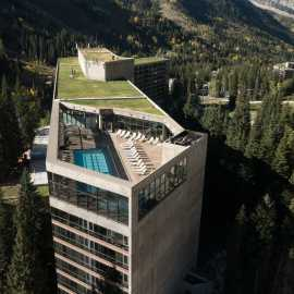 Aerial View of the Cliff Lodge and Cliff Spa