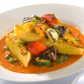 Polenta with oven roasted vegetables