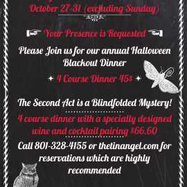 Halloween Blackout Dinner 2017