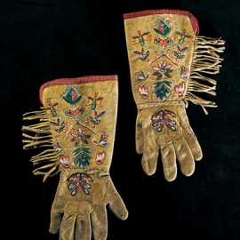 Beaded gloves