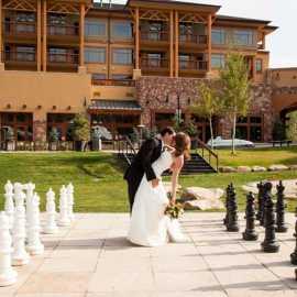 Wedding Park City Canyons Village Base
