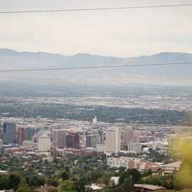 Salt Lake City from Terrace Hills overlook, photo by Brant Hansen