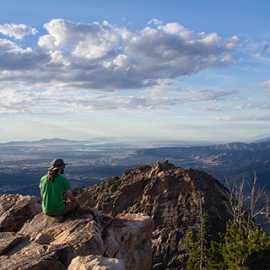 Taking in the view from Mount Olympus, photo by John Badila