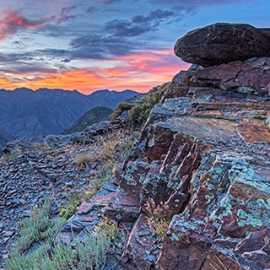 Sunset near Lake Blanche, photo by Kyle Jenkins