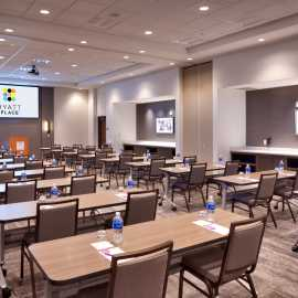 Full Meeting Space set Classroom Style