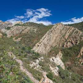 View of Tolcat Canyon about half-way up the trail, photo by John Badila
