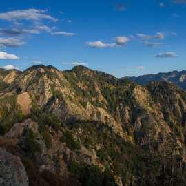 Looking east from the summit toward Wildcat Ridge, photo by John Badila