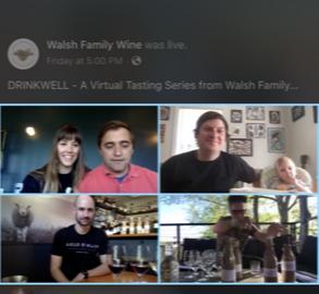 Walsh Drinkwell virtual wine tasting