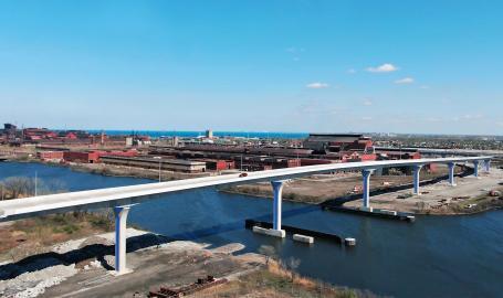 Cline Avenue Bridge Aerial Over Canal 1