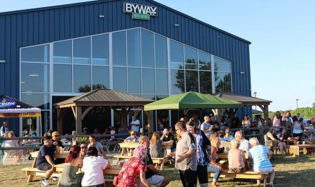 Byway Brewing outdoor patio daytime