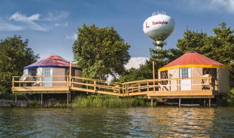 Caboose Lake Campground Yurts