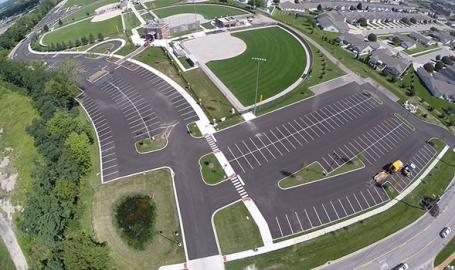 Crown Point Sportsplex parking field