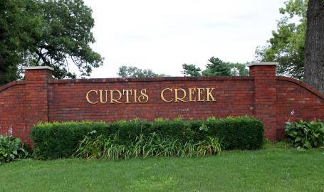 Curtis Creek Country Club Rensselaer sign